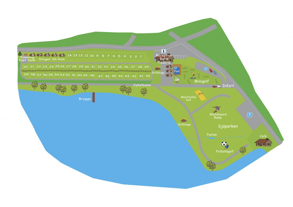 Karta över campingen